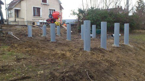 Construction d'un ponton
